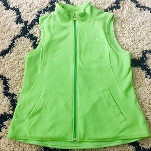 Lilly Pulitzer Limeade Swift Vest Full Zip Green